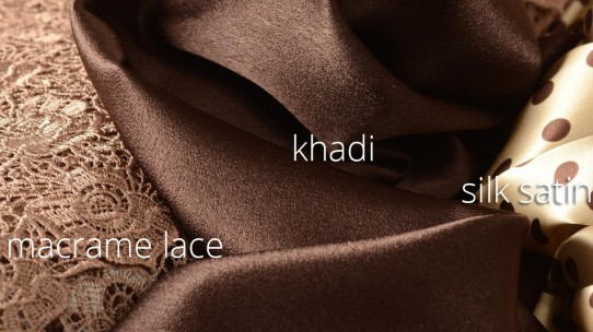 lace  – khadi – silk