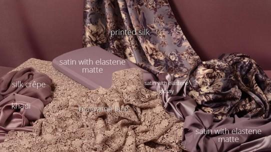 silk – satin with elastene – lace – khadi