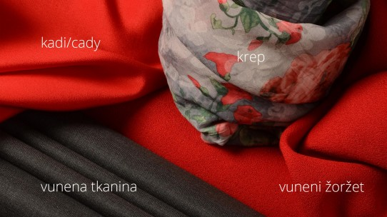 Kadi – vuneni žoržet – vunena tkanine