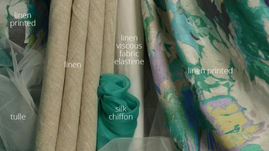 linen –tulle-silk